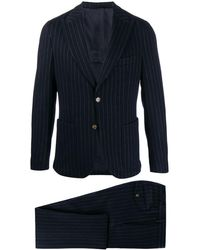 Eleventy - Single-breasted Pinstriped Suit - Lyst