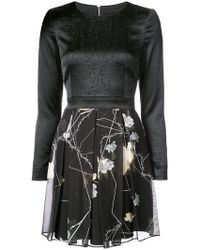 Thomas Wylde - Fitted Floral Skirt Dress - Lyst