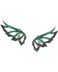Stephen Webster | 'magnipheasand' Diamond And Emerald Earrings | Lyst