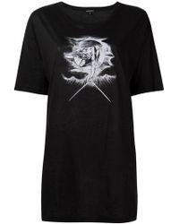 Ann Demeulemeester - Camiseta con estampado de ilustración - Lyst