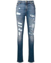 Philipp Plein - Ripped Skinny Jeans - Lyst