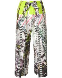 Issey Miyake - Cropped Wide Leg Trousers - Lyst
