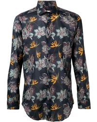 Etro - Floral Print Shirt - Lyst