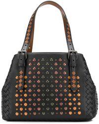a6576148a86 Lyst - Bottega Veneta Woven Tote Bag in Natural