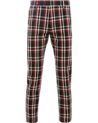Undercover - Check Fitted Trousers - Lyst