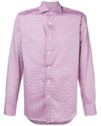 Canali - Spread Collar Shirt - Lyst