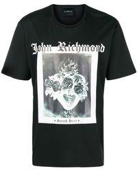 John Richmond - Sacred Heart Print T-shirt - Lyst