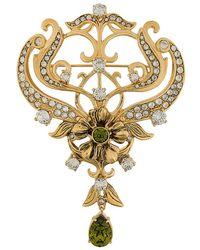 Alberta Ferretti - Crystal Embellished Brookc - Lyst