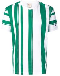 463ecee2 Lyst - Champion Striped T-shirt in Green for Men