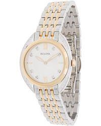 Bulova - Diamond Two-tone Bracelet Watch - Lyst