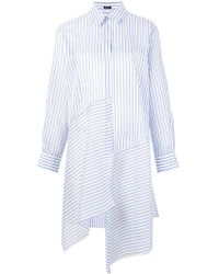 Jil Sander Navy - Striped Asymmetric Shirt Dress - Lyst