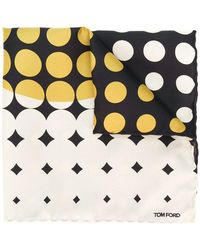 Tom Ford - Dotted Print Scarf - Lyst