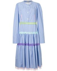 Natasha Zinko - Pleated Shirt Dress - Lyst
