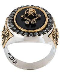 Alexander McQueen - Skull & Crossbones Ring - Lyst