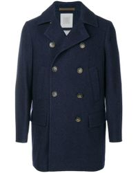 Eleventy - Double-breasted Buttoned Coat - Lyst
