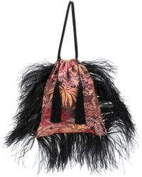 Attico - Feathered Jacquard Pouch Bag - Lyst