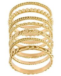 Wouters & Hendrix - Set Of 4 Sculpted Rings - Lyst