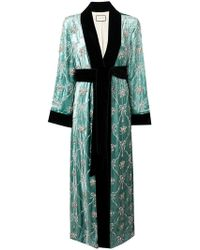 Gucci - Embellished Robe Coat - Lyst