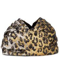 Gucci   Leopard Print Turban   Lyst