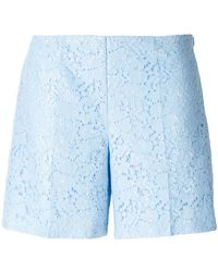Blugirl Blumarine - Floral Lace Shorts - Lyst