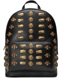 Gucci - Animal Studs Leather Backpack - Lyst