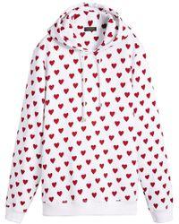 Burberry - Heart Cotton-blend Hoodie - Lyst