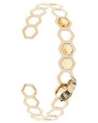 Delfina Delettrez - Geometric Bee Bracelet - Lyst