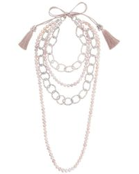 Night Market - Pearl And Bead Layered Necklace - Lyst
