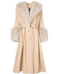 Saks Potts - Fox Trimming Coat - Lyst