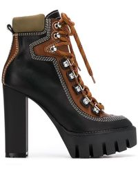 DSquared² - Chunky Heel Hiking Boots - Lyst
