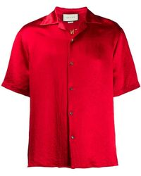 Gucci - Embroidered Acetate Bowling Shirt - Lyst