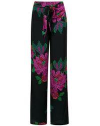 Amir Slama - Roses Print Wide Leg Trousers - Lyst