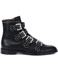 Givenchy - Studded Leather Ankle Boots - Lyst