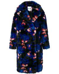 KENZO - Oversized Floral Coat - Lyst