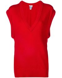 Chloé - V-neck Loose Knitted Top - Lyst
