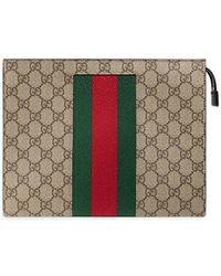 Gucci - Web GG Supreme Cosmetic Case - Lyst