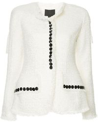 Alexander Wang - Sculpted Jacket With Contrast Buttons - Lyst