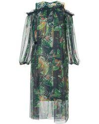 Kolor - Tropical Print Layered Dress - Lyst