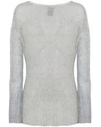 Ann Demeulemeester - Semi-sheer Knitted Jumper - Lyst