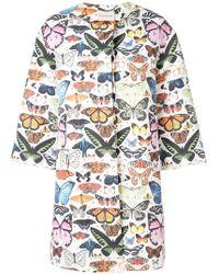 Mary Katrantzou - Butterfly Printed Coat - Lyst