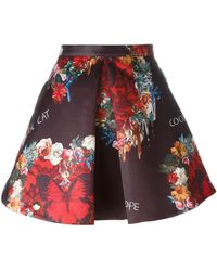 Philipp Plein - Floral And Butterfly Print Skirt - Lyst