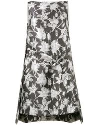 OSMAN - Metallic Brocade Shift Dress - Lyst