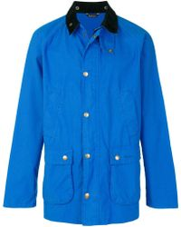 Barbour - Contrast Collar Bedale Jacket - Lyst