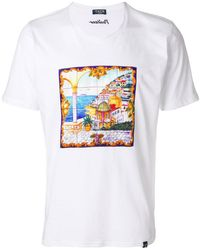 80f96ffd9e Vans Logo Print Cropped T-shirt in White - Lyst