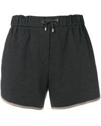Brunello Cucinelli - Pantalones cortos de deporte clásicos - Lyst
