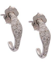 Sara Weinstock - 18kt White Gold Huggy Diamond Earrings - Lyst