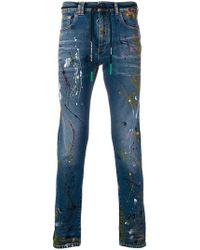 Off-White c/o Virgil Abloh - Paint Splattered Skinny Jeans - Lyst
