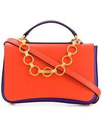 e21c94532d5b Emilio Pucci - Chance Chain Embellished Colourblock Bag - Lyst