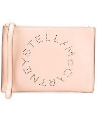 Stella McCartney ロゴ クラッチバッグ - ピンク