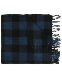 Closed - Checked Scarf - Lyst